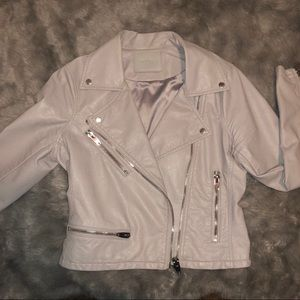 Chrome Grey Faux Leather Jacket